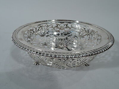 Edwardian Bowl - Antique Art Nouveau - English Sterling Silver - Neale 1904