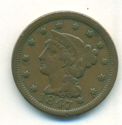 Very Nice 1847 Large Cent