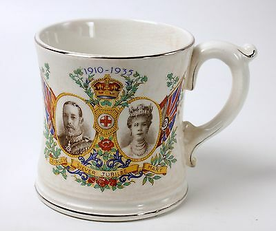 Silver Jubilee Cup Mug George V Mary 1935 Bovey Pottery Ltd.