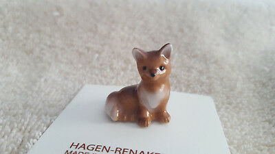 Hagen Renaker Baby Fox Figurine Miniature Gift Collect New Free Shipping 02021