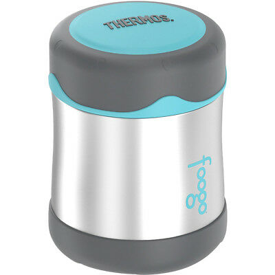Thermos 10 oz. Kid's Foogo Stainless Steel Food Jar - Silver/Charcoal/Teal