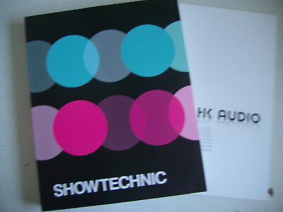 2 Kataloge Showtechnic u. FK Audio    PA u. Licht  deutsch