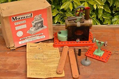Vintage Mamod Minor No. 2 Spirit Fired Steam Engine Grinding WheeI Workshop Box