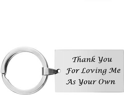 Step Father Dad Keychain Gifts - Dad Gift idea for Fathers Day from Wife Son