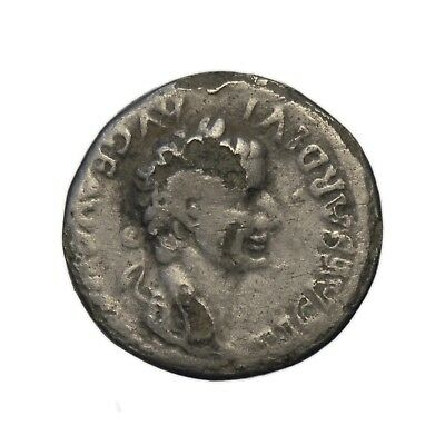 Roman coin, Tiberius fouree denarius, Livia as Pax, Tribute penny
