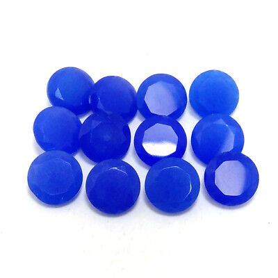 20.30Cts Natural BLUE CHALCEDONY 8x8mm Round Faceted 12 Piece Lot Gemstone