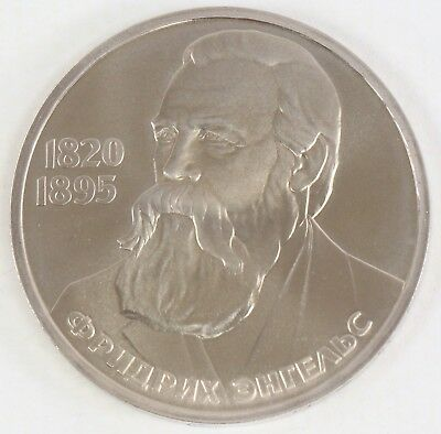 1985 Proof USSR Russia Soviet Union CCCP 1 Ruble Friedrich Engels
