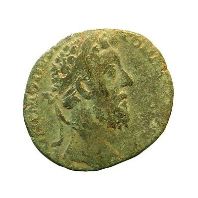 Roman coin, Commodus as, Fortuna seated with wheel, UK find