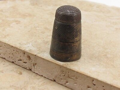 Vintage Antique Sterling Silver 925 Thimble