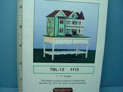 Miniature Gingerbread Mansion Table Kit #TBL13 Northeastern Scale Models