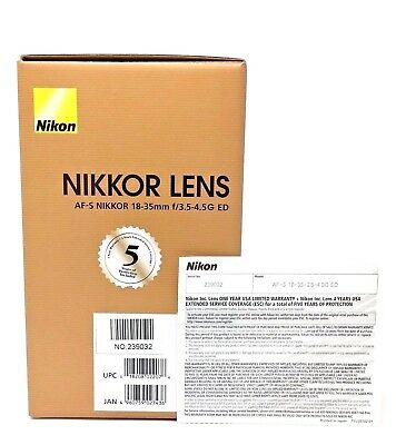 [NEW] Nikon AF-S NIKKOR 18-35mm f/3.5-4.5G ED Lens [USA Model w/ Warranty]