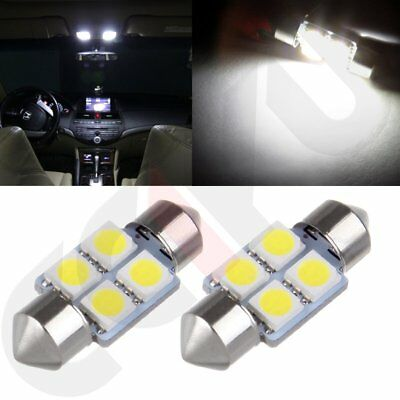4pcs Super White 31mm Festoon 5050SMD LED Car Interior Dome Map Cargo Light 3021