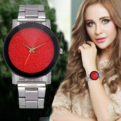 Luxury Men's Women's Crystal Stainless Steel Band Analog Quartz Wrist Watches