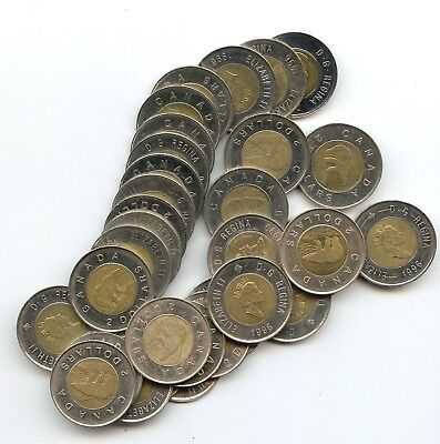 32 Canada $2.00 COINS!! You get all 32 coins in one lot. SIXTY FOUR BUCKS!!!