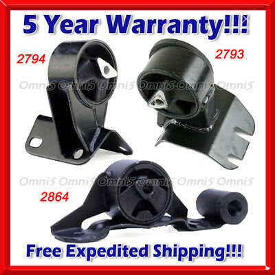 M476 Fits 1993-1995 Jeep Grand Cherokee 4.0L AUTO, Motor & Trans Mount Set 3pcs
