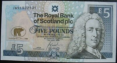 Scotland 2005 5 Pounds Jack Nicklaus Unc. Note