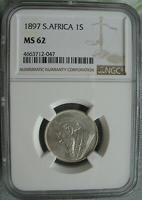 1897 South Africa 1 Shilling NGC MS-62