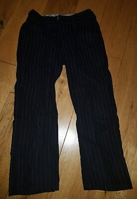 boys next navy blue stripe smart trousers age 6 years height 116cm