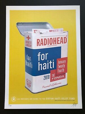 Radiohead Rare Lithograph Poster From 2010 Los Angeles Haiti Kii Arens 99/100