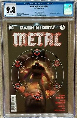 Dark Nights: Metal 1 CGC 9.8 WP Midnight Release Color Capullo Variant Cover D
