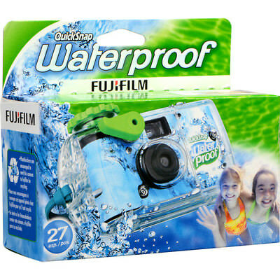 Brand New Fuji QuickSnap Waterproof Disposable One Time Use Camera 27 Exposures