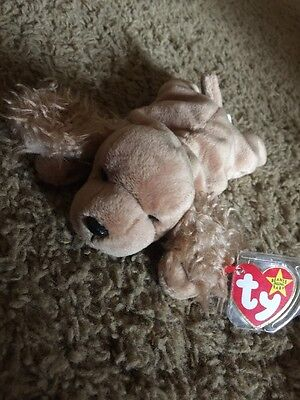 dddf82a95c4 Ty Beanie Babies Baby Spunky Cocker Spaniel Dog China 1997 PE Pellets RARE  MINT