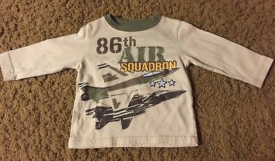 Little Rebels Baby Boys 12 Months Long Sleeve Shirt 86th Air Squadron Airplane