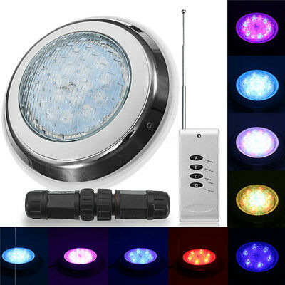 Swimming Pool Spa LED Light RGB 7 Color With Remote Control Waterproof 54W