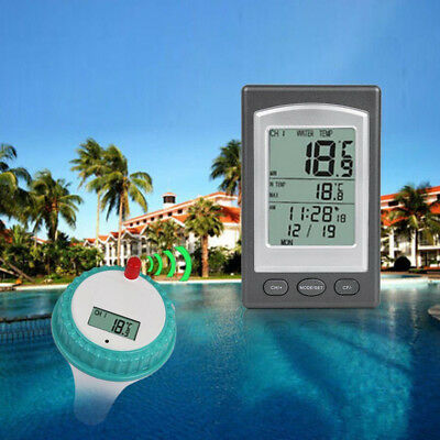 Wireless Remote Floating Thermometer Swimming Pool Waterproof Tub Pond Spa Hot
