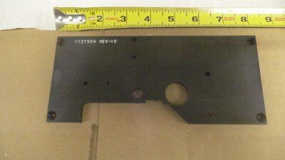 "Black Anodized Aluminum plate / bracket, 8"" x 3-1/2"" x .254 thick, machined"