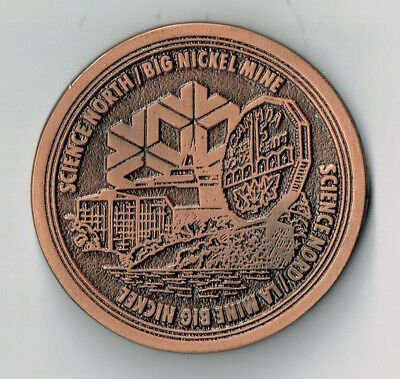 1956 Sudbury Science North Big Nickel Mine Cast Medal
