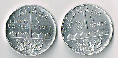 Lot Of Two 1951 Sudbury Canada The Big Nickel Aluminium Tokens