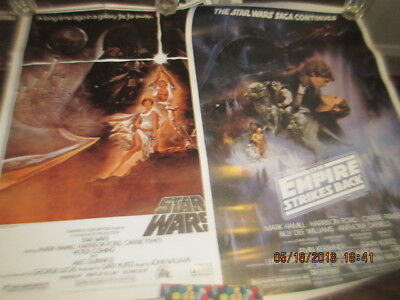 LOT of 2 Original  Star Wars Rolled Poster Printed In 1993 By ZigZag Posters
