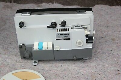 Hanimex p300 super 8 projector with screen excellent condition