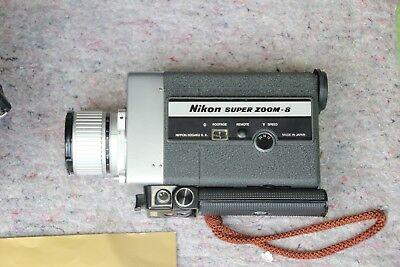 Vintage Nikon 8X Super Zoom Movie Camera Super 8 Film  1960s