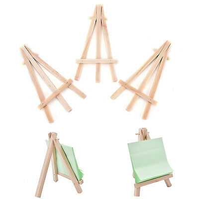 1/3Pcs Mini Wooden Art Holder Artwork Display Table-Top Easels Drawing Boards OZ
