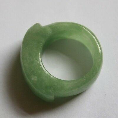 Size 12 1/4 ** Certified Grade A Natural Untreated Green Jadeite JADE RING #091