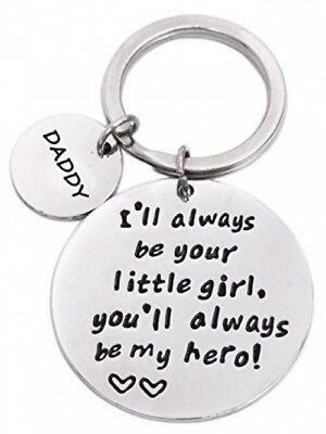 Keychain Gifts for Daddy Father - Daddy Gift Idea from Wife Daughter Son Kids,