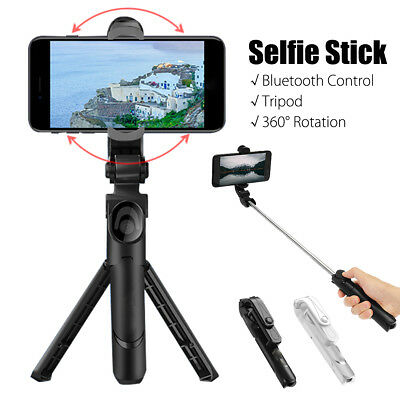 Extendable Selfie Stick Tripod Bluetooth Wireless Remote Shutter For Smartphone