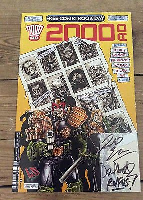 2000 AD Free Comic Book Day special 2017 autographed signed Abnett, Rufus, Elson