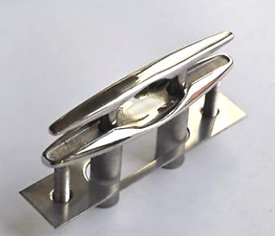 4Pcs 6'' 316 STAINLESS STEEL PULL-UP CLEAT/ POP-UP FLUSH MOUNT LIFT- Boat/Marine
