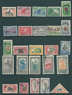 LIBERIA mint & used stamp collection including Officials