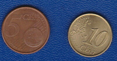 Spain  -  EUROS  Set of 2 -  (10 Cents and 5 Cents)
