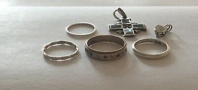 Metal Detecting Finds - Joblot of Jewellery including 9ct & Silver Eternity Ring