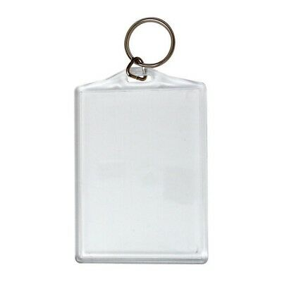 10 x KEVRON ID58 Clear Acrylic Plastic Key Tag,Key Ring - 96mm x 65mm-FREE POST