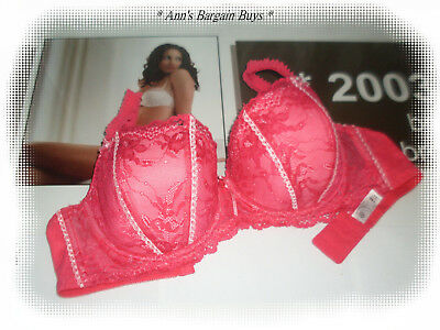 Target-Ladies Size 14D-Floral Lace Covered-Padded-U/W-Bra-Rose Pink-NWOT