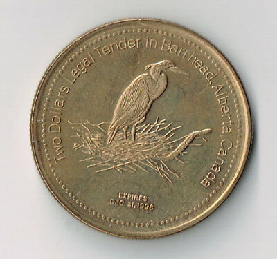 1996 Barrhead Ab Municipal Trade Token