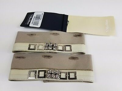 NWT 'S MAX MARA CAMPUS Women's Crystal Embellished Cube Collection Cuffs OS