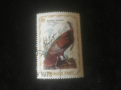 Briefmarke - Truthahn - Wild Turkey - Meleagris Gallopavo - Republique D´Haiti