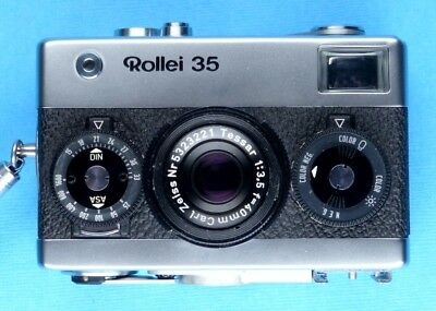 "Rollei 35 mit Carl Zeiss Tessar 3,5/40 ""Made in Germany"" N° 3228618"